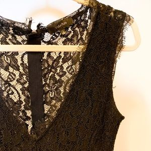 Babaton black lace dress